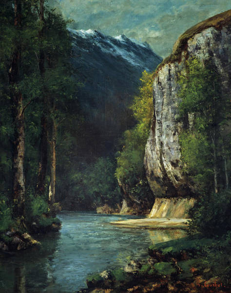 Wall Art - Painting - A River In A Mountain Gorge, 1864 by Gustave Courbet