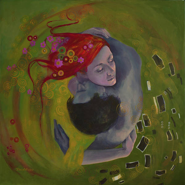 Wall Art - Painting - A Romance Story by Dorina Costras