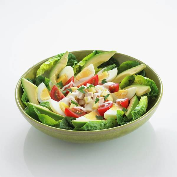 Boil Photograph - A Salad Of Lettuce, Avocado, Boiled by Dave King