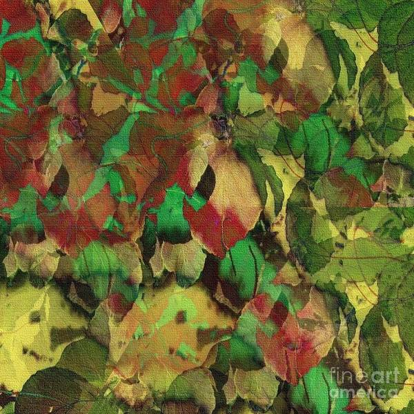 Digital Art - A Scattering Of Leaves 46 by Kathie Chicoine