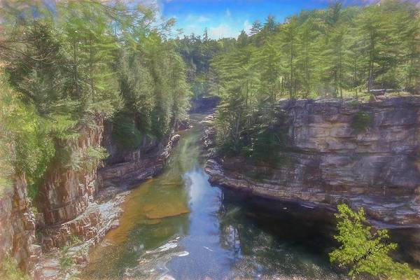 Digital Art - A Scenic Art Photograph At Ausable Chasm. Adirondack Park. by Rusty R Smith