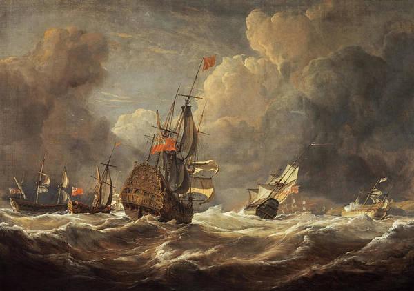 Wall Art - Painting - A Sea-piece, 1843 by John Christian Schetky