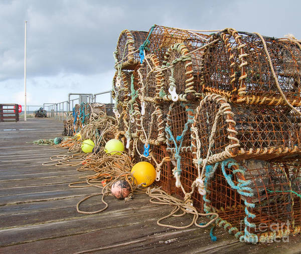 Wall Art - Photograph - A Selection Of Lobster Pots On The by Djtaylor