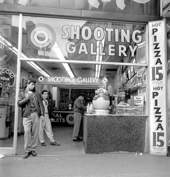 Pizza Photograph - A Shooting Gallery, Pizza And Snack by New York Daily News Archive