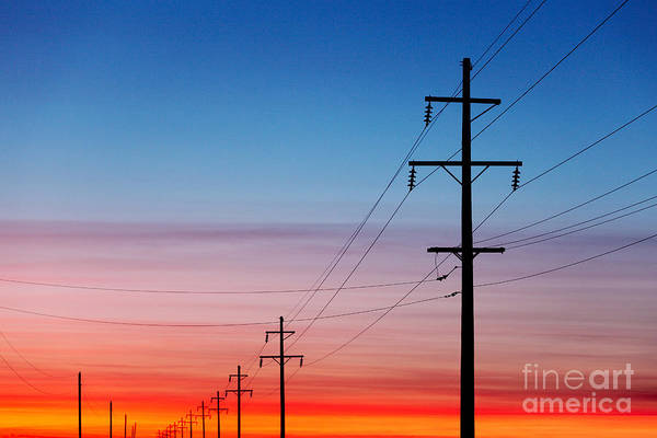 Transmission Wall Art - Photograph - A Silhouette Of High Voltage Power by Todd Klassy