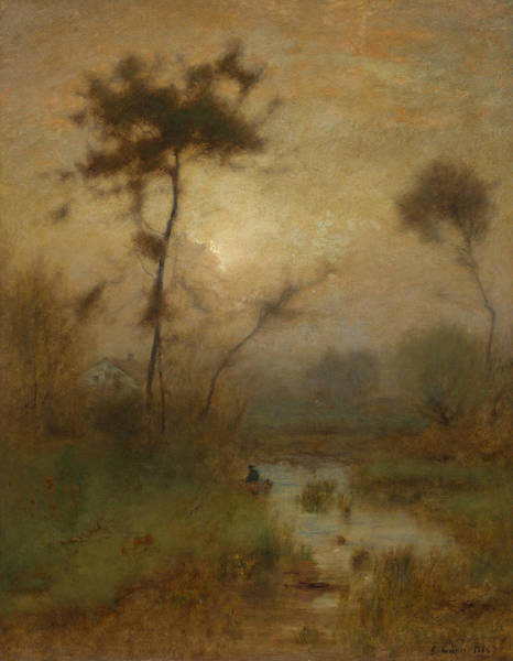 Wall Art - Painting - A Silver Morning by George Inness