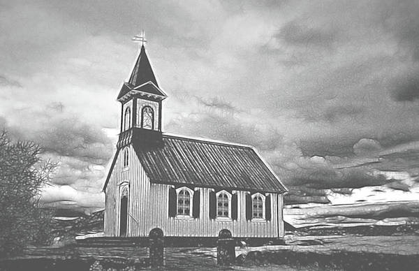 Photograph - A Simple Church by Jim Cook