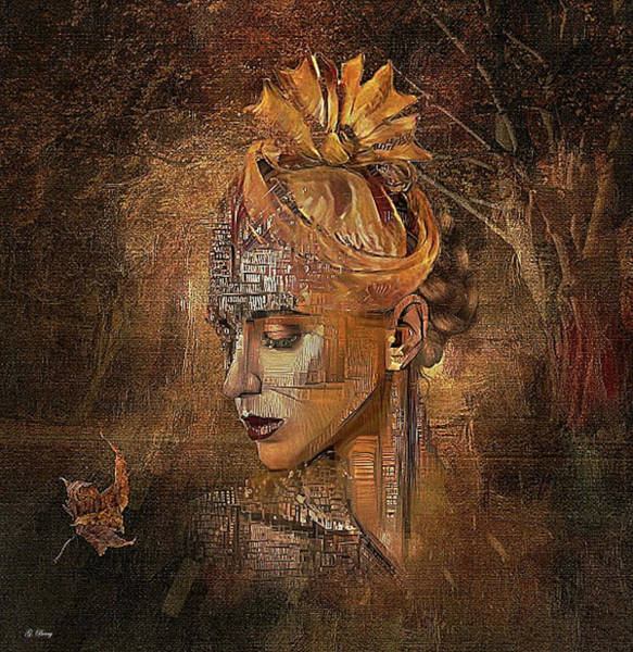 Wall Art - Mixed Media - A Single Autumn Leaf 02 by G Berry