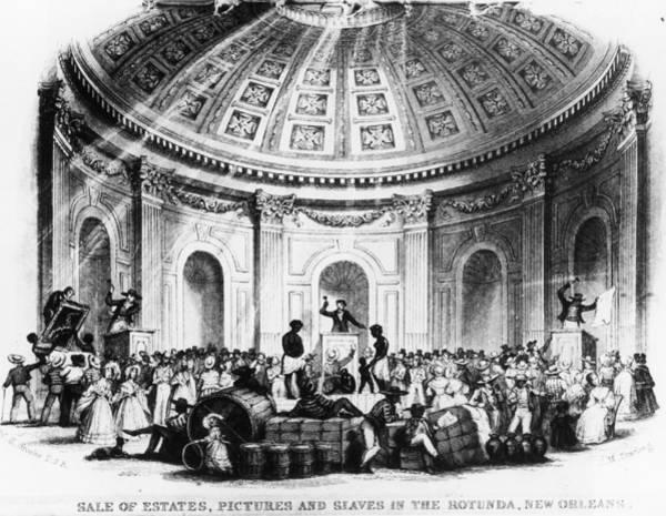Rotunda Photograph - A Slave Market by Fotosearch