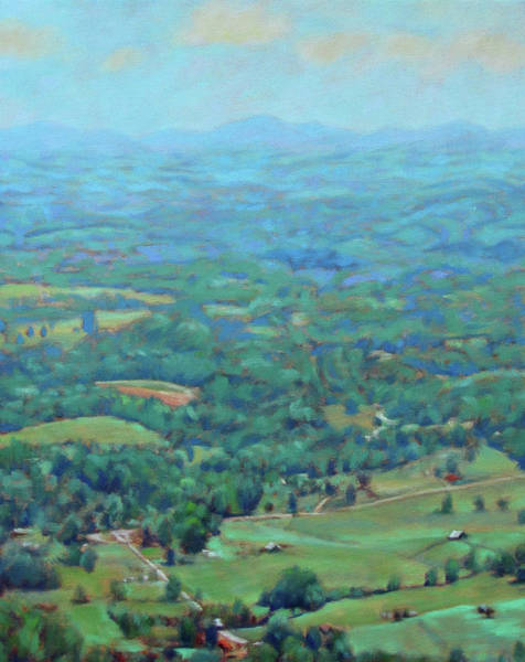 Roanoke Wall Art - Painting - A Slow Summer's Day- View From Roanoke Mountain by Bonnie Mason