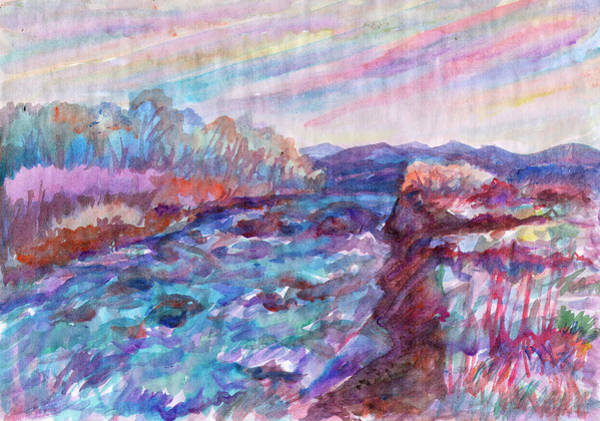 Painting - A Small River Flows Over Stones by Irina Dobrotsvet