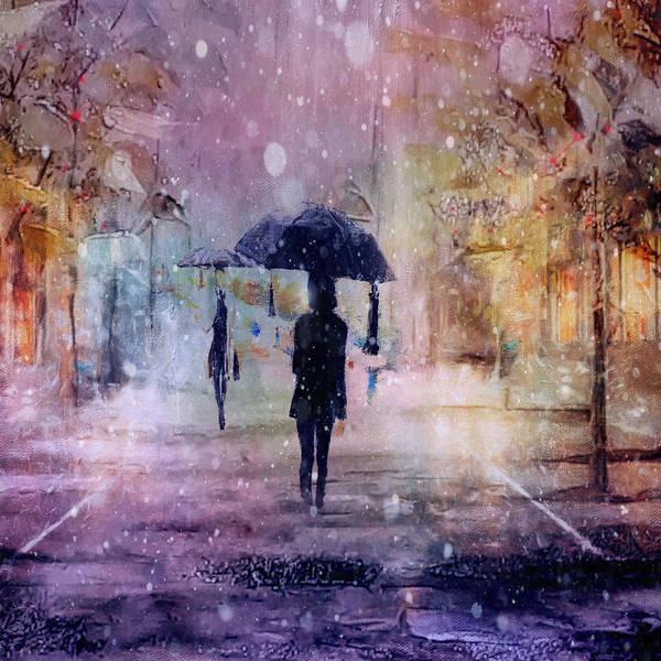 Purple Rain Digital Art - A Snowy Christmas by Tim Palmer