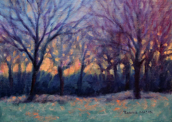 Wall Art - Painting - A Song At Twilight by Bonnie Mason
