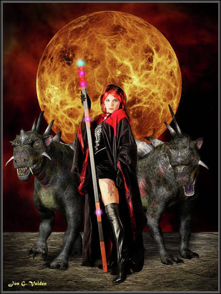 Photograph - A Sorceress And Her Hounds by Jon Volden