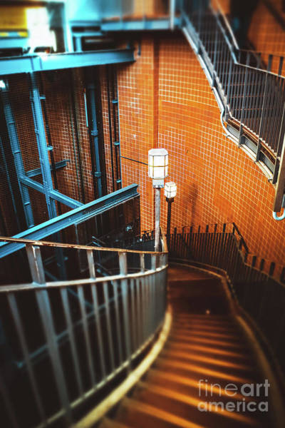 Photograph - A Spiral Staircase And Lanternes by Marina Usmanskaya