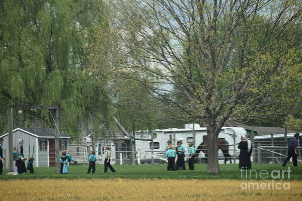 Photograph - A Spring Amish Family Gathering by Christine Clark