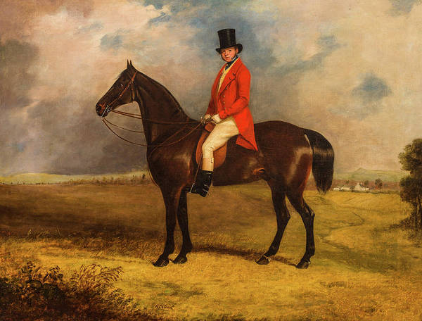 Wall Art - Painting - A Squire On His Horse by Henry Calvert