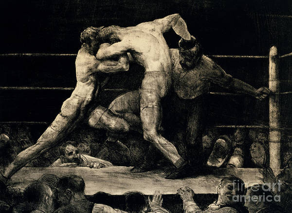 Wall Art - Painting - A Stag At Sharkeys, 1917 by George Wesley Bellows