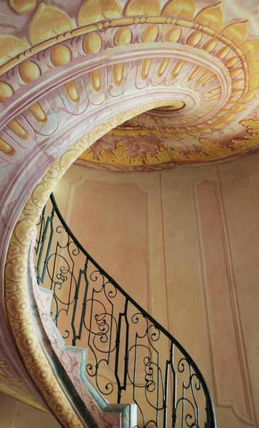 Danube Photograph - A Staircase In Melk Library On Danube by Danita Delimont