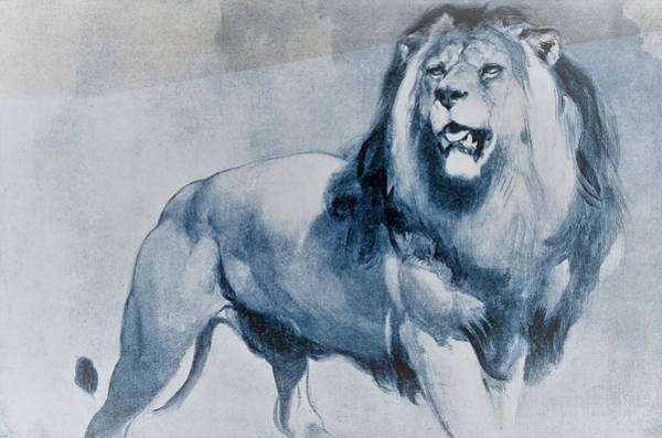 Wall Art - Painting - A Standing Lion - Digital Remastered Edition by Edwin Henry Landseer