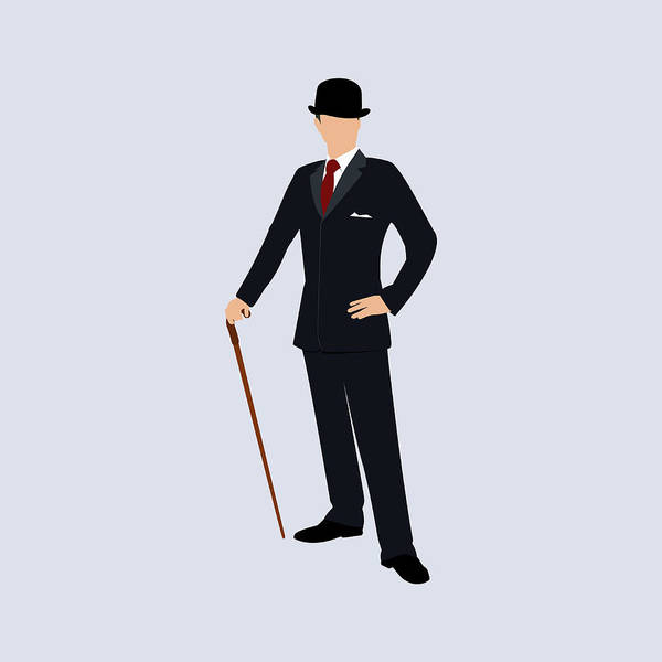 Front Digital Art - A Stereotypical British Gentleman by Ralf Hiemisch