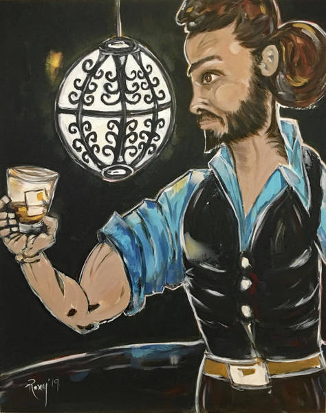 Artwork Painting - A Stiff One Featuring Rich by Roxy Rich