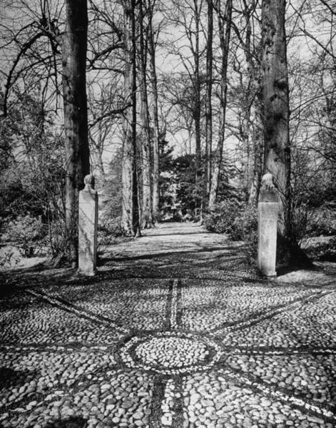 Poetry Photograph - A Stone Walkway Standing In The Midst Of by Nat Farbman