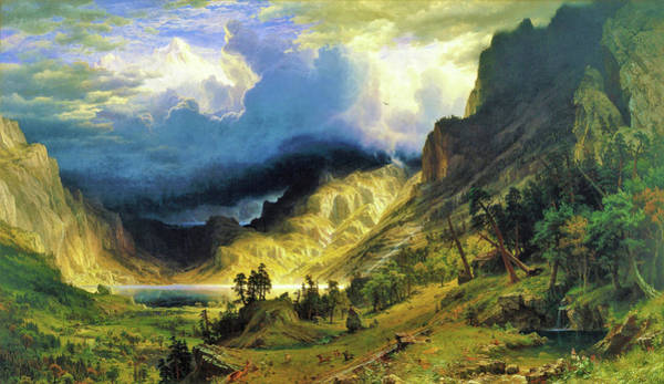 Wall Art - Painting - A Storm In The Rocky Mountains, Mt Rosalie - Digital Remastered Edition by Albert Bierstadt