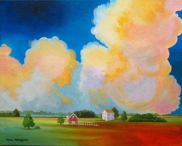 Wall Art - Painting - A Storm Over Kansas by Carol Sabo