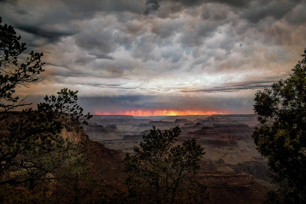 Photograph - A Stormy Sunset At The Canyon by John M Bailey