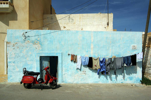 Wall Art - Photograph - A Street Scene, Madhia, Tunisia by Dirk Panier