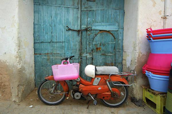 Crash Helmet Photograph - A Street Scene, Tunisia by Dirk Panier