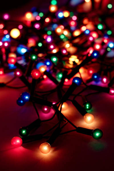 Photograph - A String Of Christmas Lights Out For by Fizia