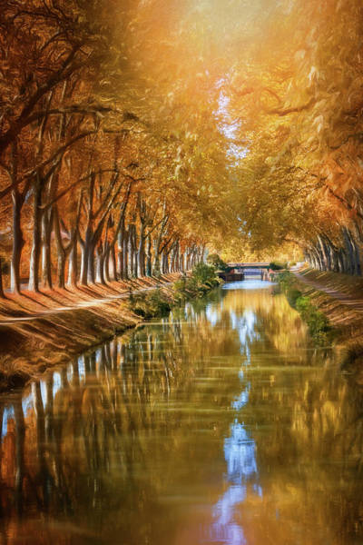 South Of France Wall Art - Photograph - A Stroll Along Canal De Brienne Toulouse France  by Carol Japp