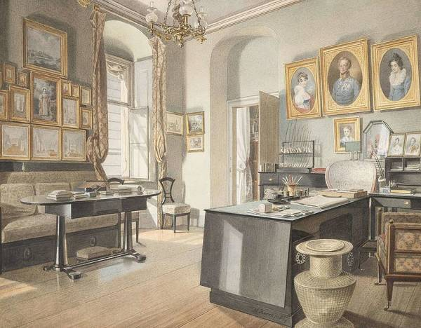 Wall Art - Painting - A Study Interior At St  Polten  by Matthus Kern