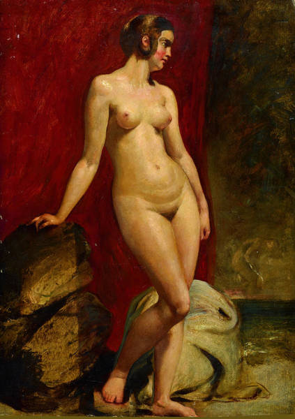 Painting - A Study Of A Standing Female Nude  by William Etty