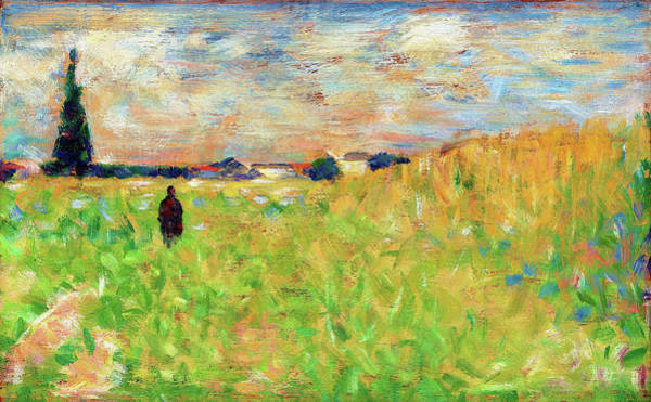 Wall Art - Painting - A Summer Landscape - Digital Remastered Edition by Georges Seurat