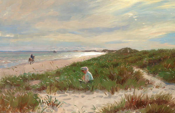 Painting - A Summer's Day At Skagen Sonderstrand, Denmark by Laurits Tuxen