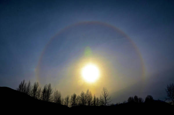 Wall Art - Photograph - A Sun Halo Seen In Northern British by Richard Wright