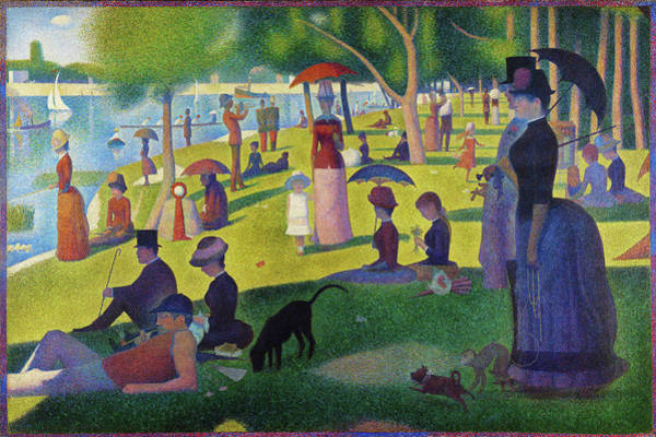 Wall Art - Painting - A Sunday Afternoon On The Island Of La Grande Jatte - Digital Remastered Edition by Georges Seurat