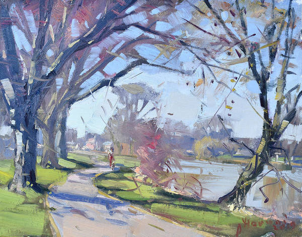 Wall Art - Painting - A Sunny Day In Tonawanda by Ylli Haruni