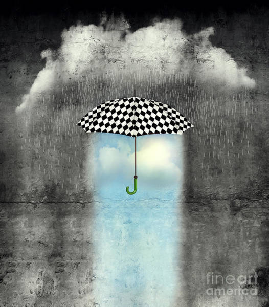 Poetic Photograph - A Surreal Image Of An Umbrella by Valentina Photos