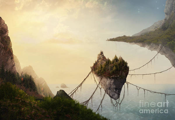 Vines Wall Art - Photograph - A Surreal Landscape At Sunset With by Amanda Carden