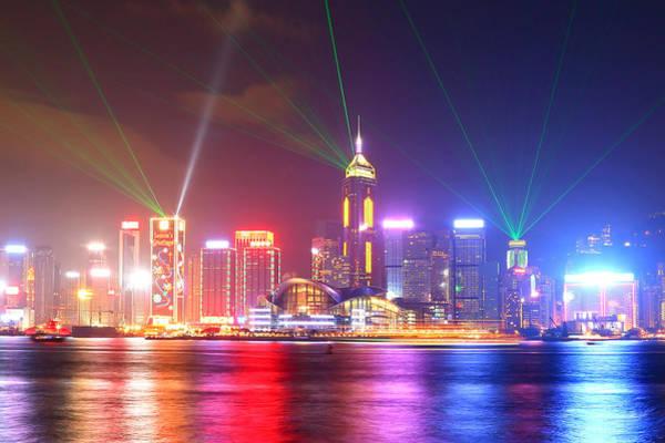 Laser Photograph - A Symphony Of Lights by Liu Wai Yip Even