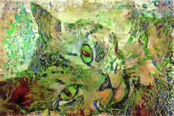 Digital Art - A Tabby Cat Named Jade by Peggy Collins