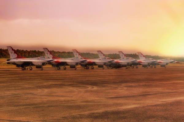 Photograph - A Thunderbirds Sunrise - Air Force - F-16 by Jason Politte