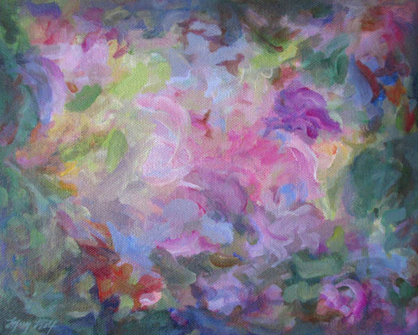Painting - A Time To Bloom by Mary Wolf
