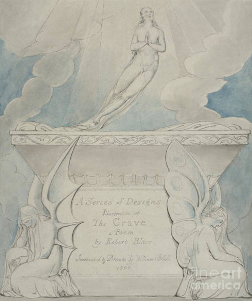 Wall Art - Painting - A Title Page For The Grave by William Blake