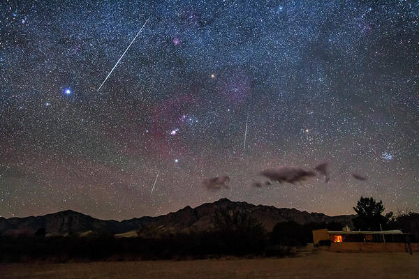 Photograph - A Trio Of Geminid Meteors by Alan Dyer