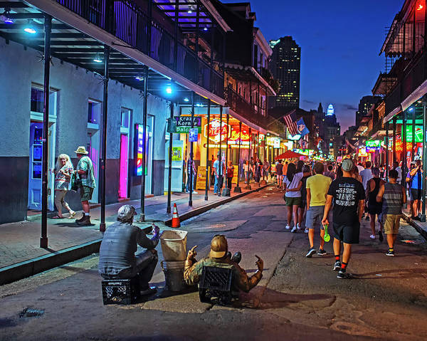 Photograph - A Typical Night On Bourbon Street New Orleans Louisiana Nightlife by Toby McGuire